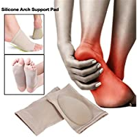 XDLiu 1Paar Orthopädische Plantarfasziitis Fußgewölbe Kissen Pad Ferse Foot Care Einlagen Foot Pad preisvergleich bei billige-tabletten.eu