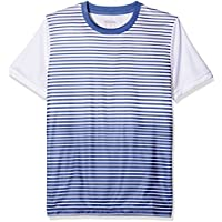 6d9e47171 Wilson Boys' B Team Striped Crew Short Sleeve Tennis T-Shirt