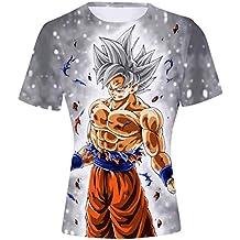 2c3d18aaf FLYCHEN Camiseta para Niños Moda 3D Estampado Personalizacion Dragon Ball  Cosplay Animado Boy s T-Shirt