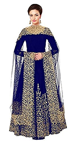 Aarna Fashion Women's Crepe Silk Semi- Stitched Lehenga(New Ramp Lehenga Choli_Red_Free Size)