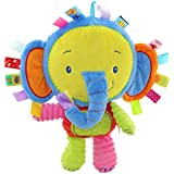 Happy cherry Baby Infant Toddler Animal Soft Plush Ring Bell Doll Early-educational Activity Puzzle Musical Toys Rattle Kids 0-6 Year Flexible Bibi Rattel Gift - 4 Styles Available