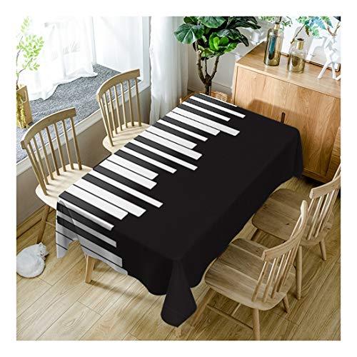 ZHAOXIANGXIANG Waschbar Tabelle Mat Mode Einfach Schwarz-Weiß Gestreiften Taste Pattern Home Decor Tischdecke,90Cm×130Cm -