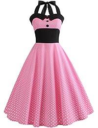 Vintage Kleid,Yesmile 50er Swing Sexy Punkt Drunck Rockabilly Kleid Frauen  2018 Trägerlos Kleider Jahre Vintage Cocktailkleid Röcke Petticoat… 1d8eabb635
