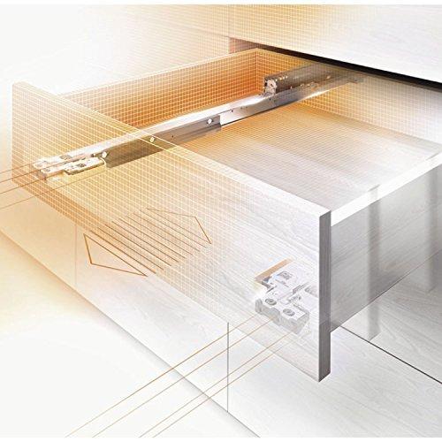 Gedotec Schubladenschiene Vollauszug 400 mm mit Blumotion Dämpfung | Blum Movento 760H4000B |...