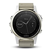 Garmin Fenix �??�??5S Multi Sport Watch GPS with Outdoor Navigation and wrist basierter Heart Rate silver, white bracelet
