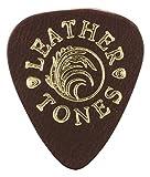Leather Tones-Plettro per chitarra, in pelle, colore: marrone (singolo)