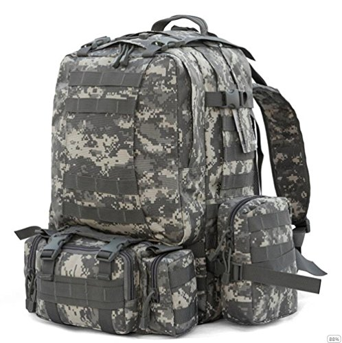 GOUQIN Outdoor Rucksack Klassische Mode Outdoor Klettern Taschen Taktische Energie Kombination Armee Paket Camping Schulter Tasche Reisen 1 Camouflage