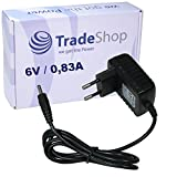 Trade-Shop Netzteil Ladegerät 6V/0,83A 3,5mm x 1,2mm für Babyphone Babyfon Philips Avent SCD600 SCD600/00 Baby-Einheit ersetzt Philips OH-1048A0600800u2-VDE, CP9172, CP9172/01