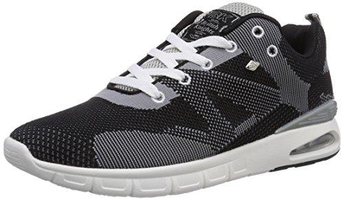 British Knights DEMON, Low-Top Sneaker uomo Nero (Black/Grey 19)