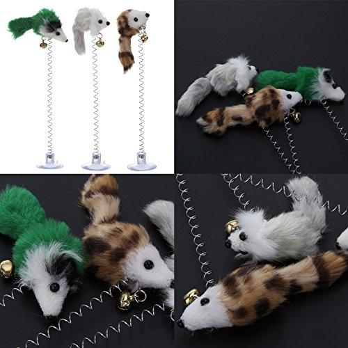 Demiawaking 3 Stücke Falsche Maus Haustier Katze Spielzeug Mini Lustige Spielen Spielzeug Für Katzen Boden Sucke