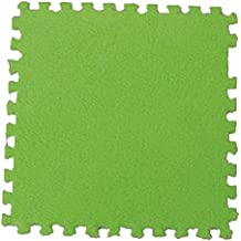 Funie Soft Baby Kids Interlocking Foam Puzzle Floor Mat Exercise House Office Play Mat (Green)
