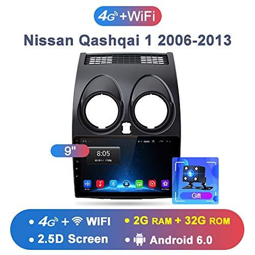 OSB STYLE 2G + 32G Android 8.1 4G Radio de Coche Reproductor de Video Multimedia de Navegación GPS para Nissan Qashqai 1 2006-2013 J10 2 DIN Sedan DVD,B