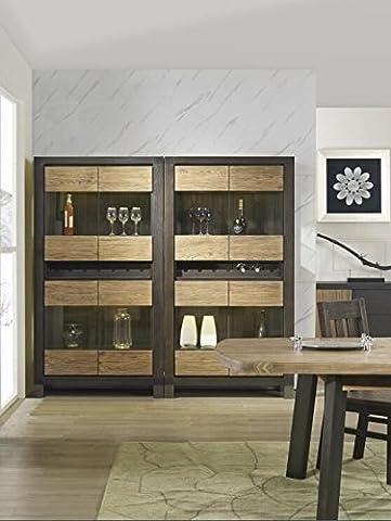 Massiv Holz Vier Windows Wein Schrank Flaschenhalter Aufbewahrung Küche Home Bar