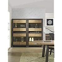 Quattro Finestre in legno massello Portabottiglie vino armadio Storage Cucina