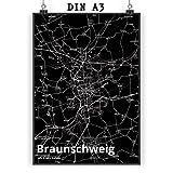 Mr. & Mrs. Panda Poster DIN A3 Stadt Braunschweig Stadt