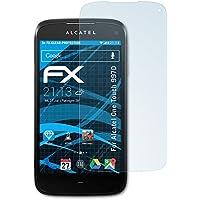 atFoliX FX-Clear–Pellicola proteggi schermo per Alcatel One Touch 997d Dual SIM Trasparente Confezione da 3