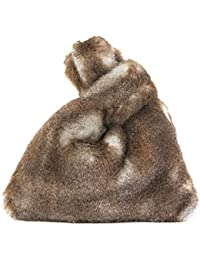 JERKKY Morbido Signore Femminile della Borsa della Peluche Faux Pelliccia  di Coniglio Tote Casual Caldo Inverno fc58d186625