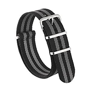Nylon NATO Watch Strap by Sniper Bay Straps | Military Style Divers Bands | 18mm 20mm 22mm