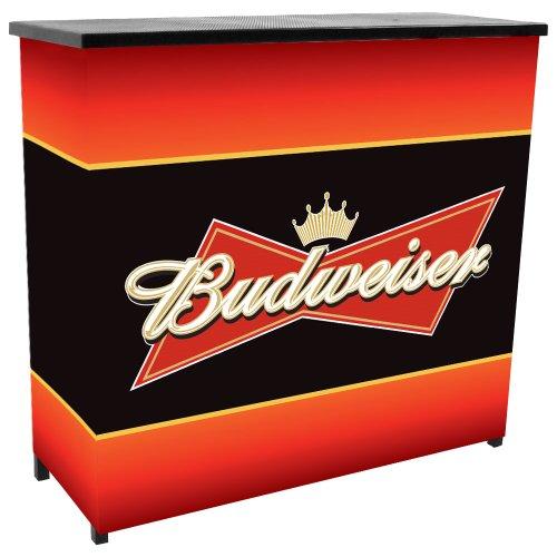 budweiser-metal-2-shelf-portable-bar-table-w-carrying-case