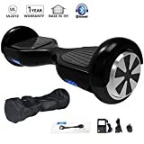 HoWay Self Balance Scooter 6,5 Zoll 700W mit Bluetooth Lautsprecher UL2272 LED Lights Elektro Scooter (Schwarz)