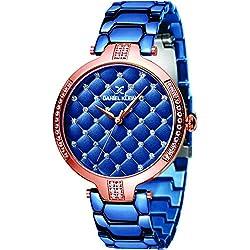 Daniel Klein Analog Blue Dial Women's Watch-DK11324-4