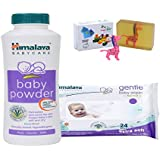 Himalaya Herbals Baby Powder (100g)+Himalaya Herbals Gentle Baby Wipes (24 Sheets) With Happy Baby Luxurious Kids Soap With Toy (100gm)