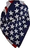 PURECITY® Bandana Kopftuch Halstuch - gemustert: Paisley Muster - 24 Farben - 100% Baumwolle! Herren Damen (USA Fahne)