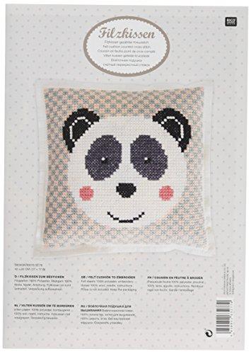 Rico Design Giant Panda-Kit Kissen 42/Multi (Stickerei Kissen Kit)
