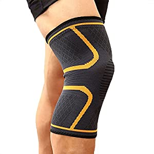 FITTOO Knee Sports Support Sleeve Compression Brace for Men and Women - Anti Slip, Joint Pain Relief, Arthritis & Injury Recovery - Support for Running, Jogging, Cycling, Hiking, Workouts
