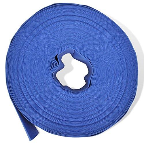Festnight 50m Flexibler PVC Wasser Schlauch Flachschlauch Wasserschlauch Gartenschlauch Durchmesser 2 Zoll