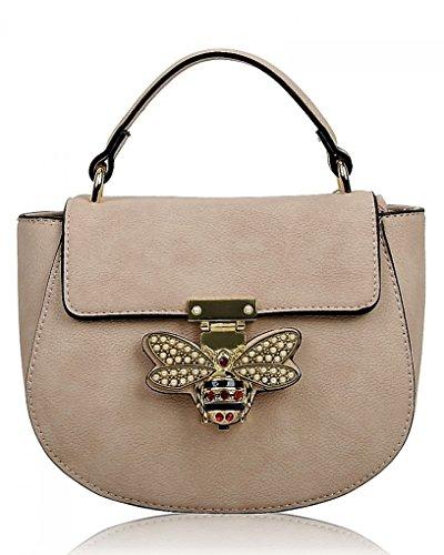 LeahWard Kleine Umhängetasche für Damen Designer Tote Grab Taschen Handtaschen für ihren Partyurlaub 0812 (PRIMROSE GELB) BLASSES ROSA