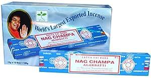 Satya Nag Champa Handrolled Incense Sticks 15 Gms x 12 Packs