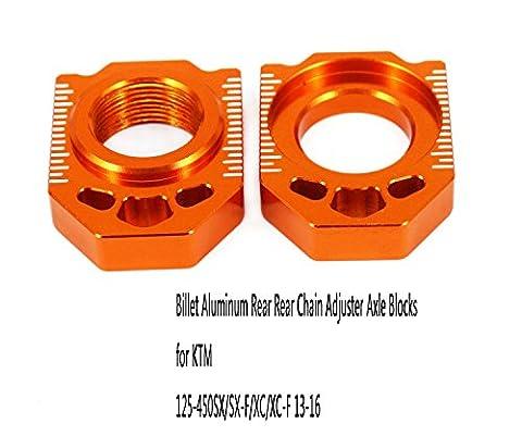 Billet Aluminum Rear Rear Chain Adjuster Axle Blocks for KTM