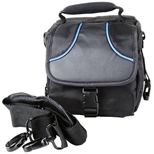 Die Perfekte Systemkamera-Tasche Braun Ocean mit Zubehörtasche - passend für Bridgekamera oder Systemkamera z.B. Sony DSC-H300 DSC-HX400 V Alpha 5000 5100 6000 6300 RX10II ** Panasonic DMC-FZ200 DMC-FZ300 ** Canon Powershot G3 EOS M10 EOS M3 SX420 SX54