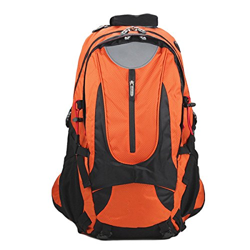 Outdoor-Sport-Bergsteigen Tasche Kommt Mit Regen Abdeckung,Grey Orange