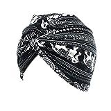 iKulilky Damen Baumwolle Bandana Turban Kopfbedeckung Haare Wickeln Chemo Krebs Kopf Schal Hut Mütze Beanie Fur Haarverlust