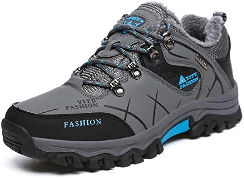 Herren Winter Martin Stiefel Draussen Warm halten Lässige Schuhe Flache Schuhe Schneestiefel Schutz Fuß Rutschfest