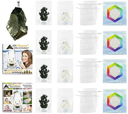 Hamoni® Wasserset Ultra: Thermisch Aktivierter Edelschungit für selbstgemachtes Edelschungit-Wasser. Hochwirksamer Wasserfilter und Russisches Naturheilmittel. -
