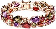 YouBella Aaa Zircon Stylish Party Wear Jewellery Gold Plated Charm Bracelet for Women (Multi-colour) (YBBN_915