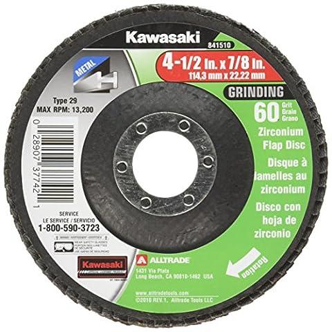 Kawasaki 841510 Depressed Center Flap Disc, Type 29, 60 Grit, 4-1/2