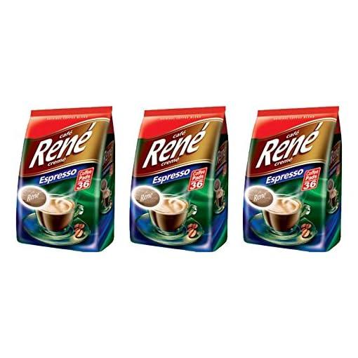 Philips Senseo 108 x Cafe Rene Cremé Espresso Roast Coffee Pads Pods Bag 51P u0h6tfL