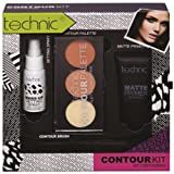 Make-up Kollektion CONTOUR KIT Grundierung+Konturpuder+Pinsel+Fixspray HiT (36)