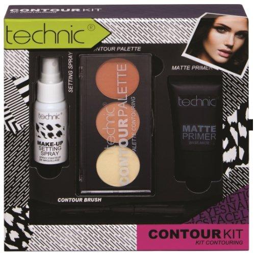 Maquillage Contour Collection Kit Apprêt + Contour poudre + pinceau + fixspray Hit (36)