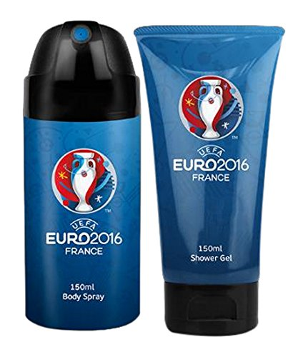 UEFA Euro 2016 Coffret Duo Gel Douche 150 ml + Déodorant Spray Bleu 150 ml