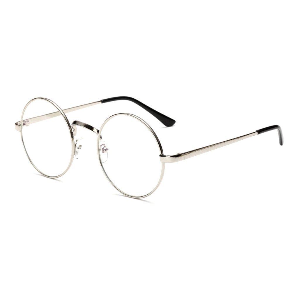 HENGSONG Lunettes Rondes Rétro Monture de Lunettes Myopie Metallique Sunglasses (Noir) ayGHb