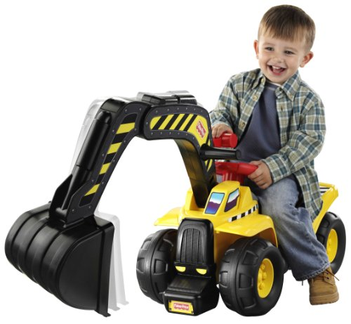 Image of Fisher Price Big Action Digger Ride-on
