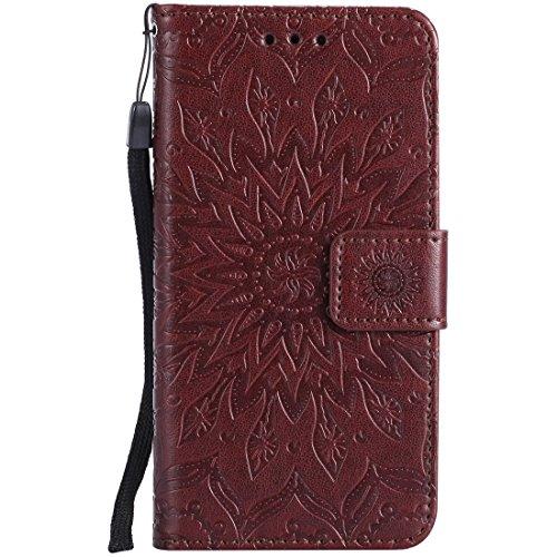 Yaking® Apple iPhone 6 Plus/6S Plus PU Portefeuille Étui Coque Stand Flip Housse Couvrir impression Case Cover brun