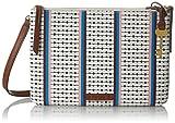 Fossil Damentasche? Devon Crossbody, Sacs bandoulière femme, Multicolore (Ecru Multi Stripe), 3.18x17.78x25.4 cm (B x H T)