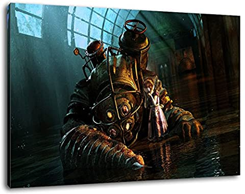 Dark Bioshock Format 60x40 cmfertig gerahmte Kunstdruckbilder als Wandbild - Billiger als Ölbild oder Gemälde - KEIN Poster oder Plakat