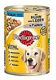 Pedigree Senior Hundefutter Huhn und Leber, 12 Dosen (12 x 400 g)